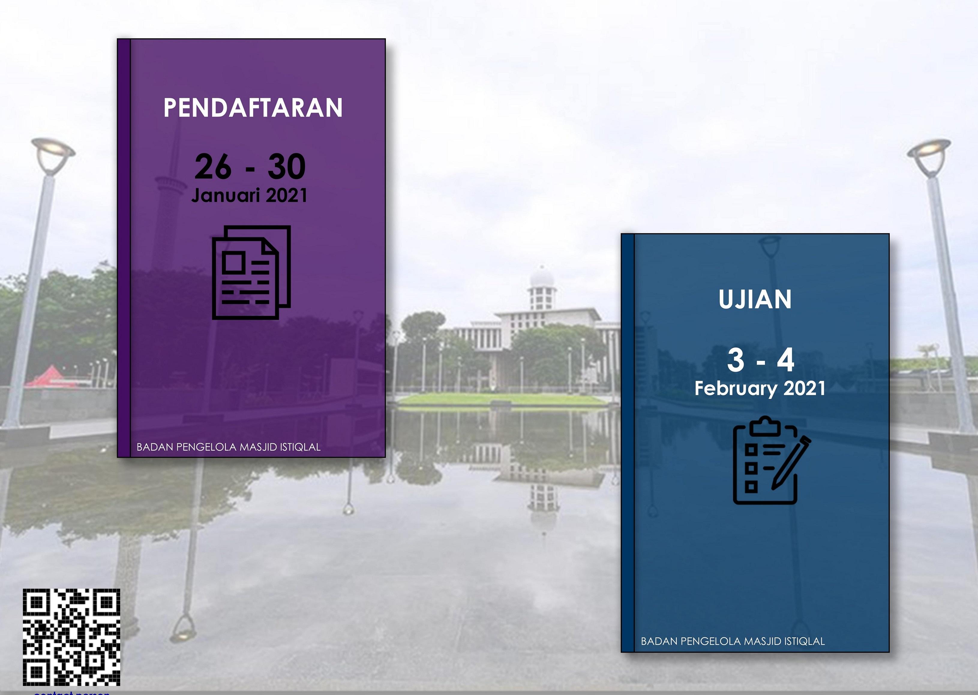 PENDAFTARAN Pendidikan Kader Ulama Perempuan Masjid Istiqlal 2021