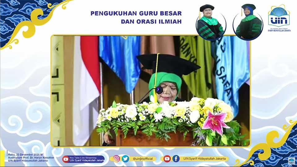 Prof. Sri Mulyati, M.A, Ph.D Wakil Kepala Bidang Sosial dan Pemberdayaan Umat BPMI dikukuhkan sebagai Guru Besar UIN Syarif Hidayatullah Jakarta