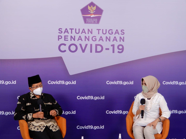 Imam Besar Masjid Istiqlal Bincang Santri Sehat Bersama SATGAS Covid-19