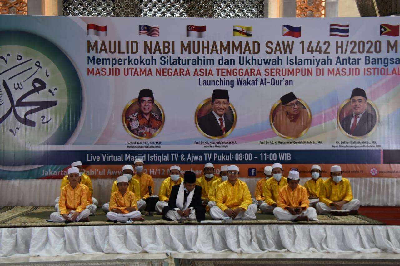 Masjid Istiqlal Peringati Maulid Nabi Muhammad SAW 1442 H bersama 7 Masjid Utama Negara Asean