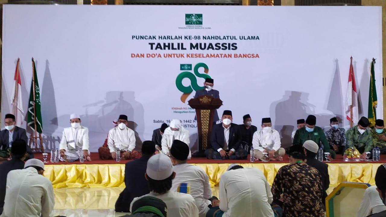 Harlah NU ke-98 bertempat di Masjid Istiqlal