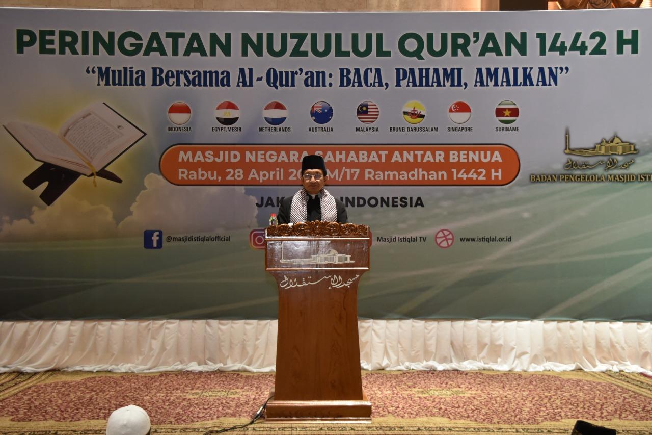 Masjid Istiqlal Gelar Malam Nuzulul Quran Bersama Perwakilan 3 Benua