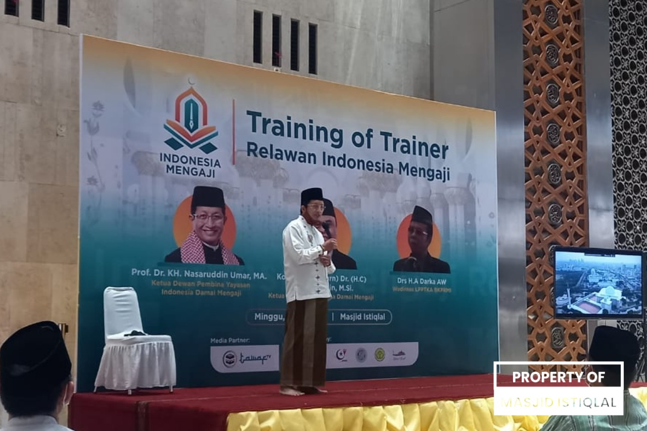 KH Nasaruddin Umar Hadiri Training of Trainer Relawan Indonesia Mengaji