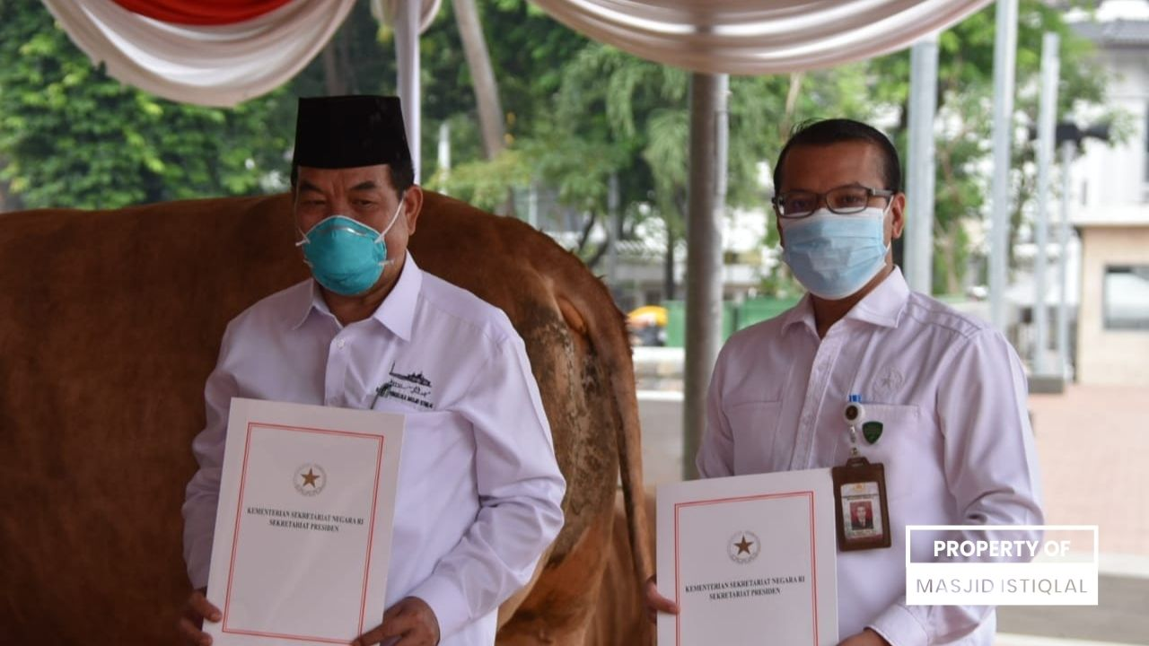BPMI Terima Hewan Kurban dari Presiden dan Wakil Presiden RI