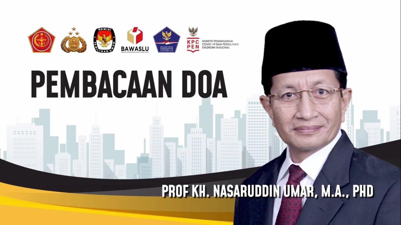 Imam Besar Masjid Istiqlal Memimpin Doa Pada Acara Pembagian Masker Serentak Oleh Polda Metro Jaya