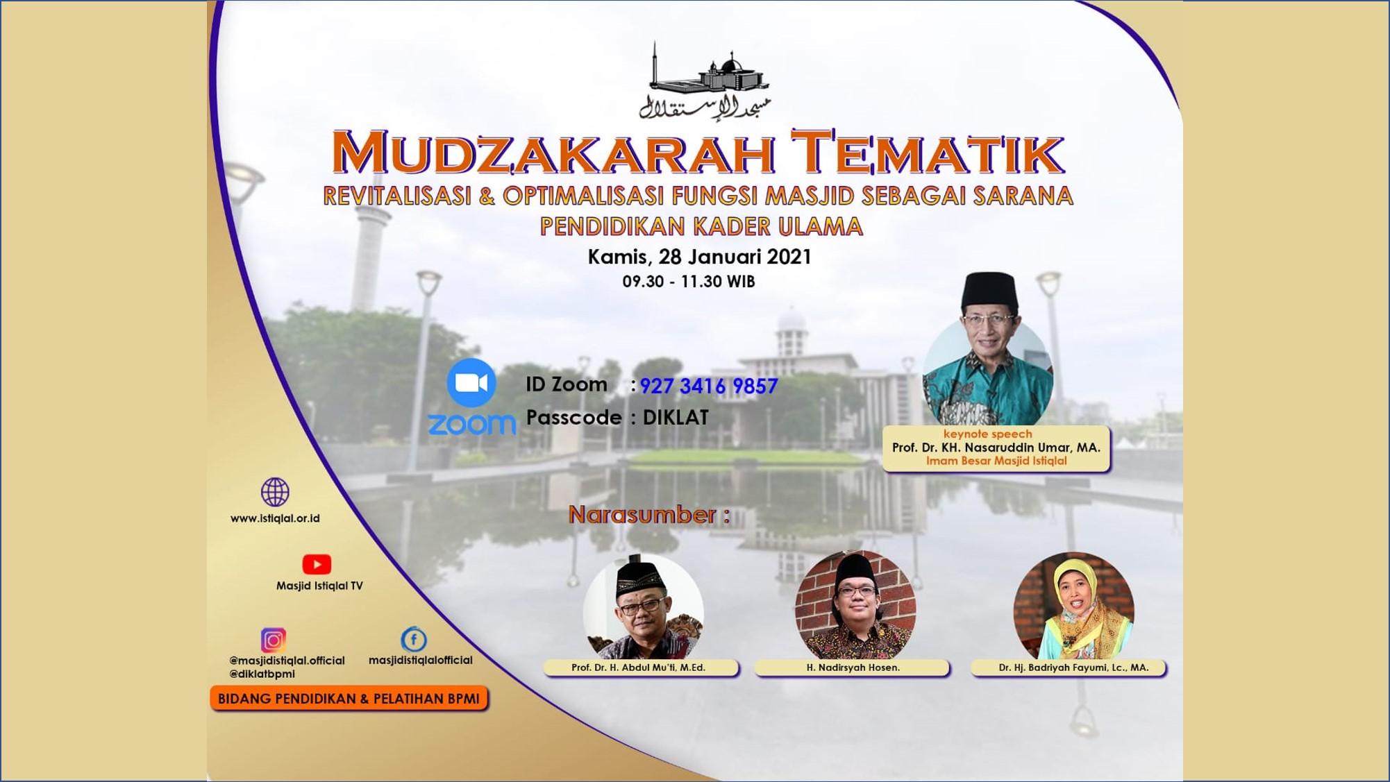 Revitalisasi Fungsi Masjid, Istiqlal Dirikan PKUMI