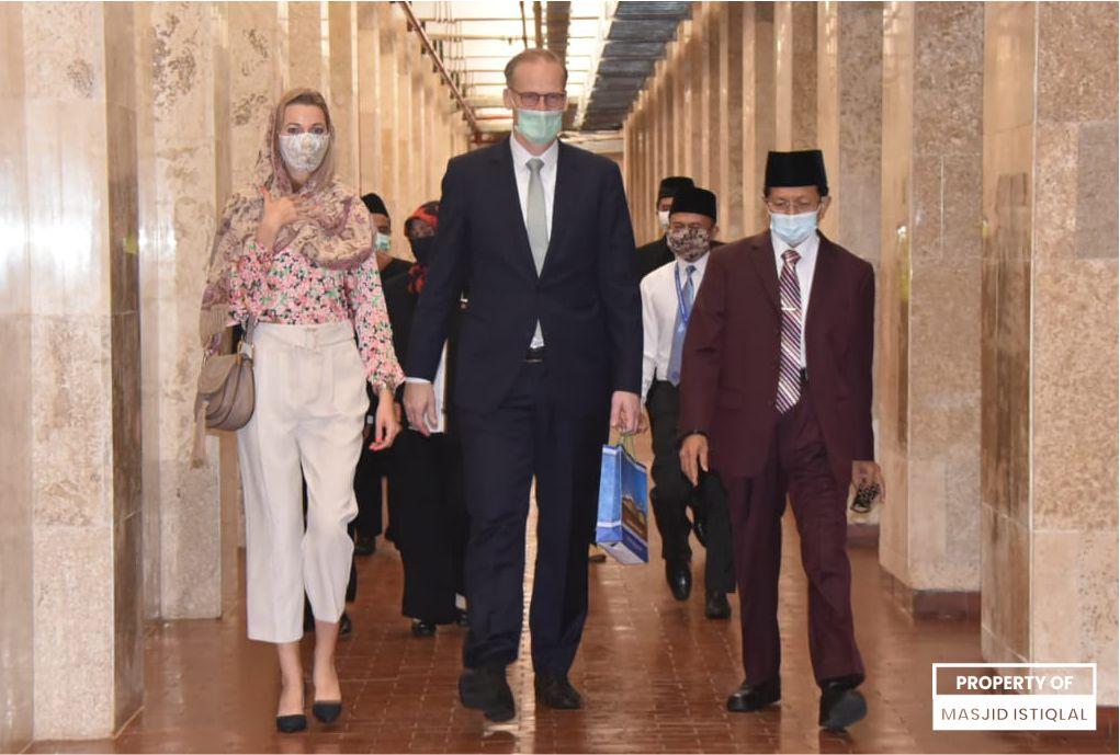 Dubes Denmark, Lars Bo Laisen bertemu Imam Besar Istiqlal
