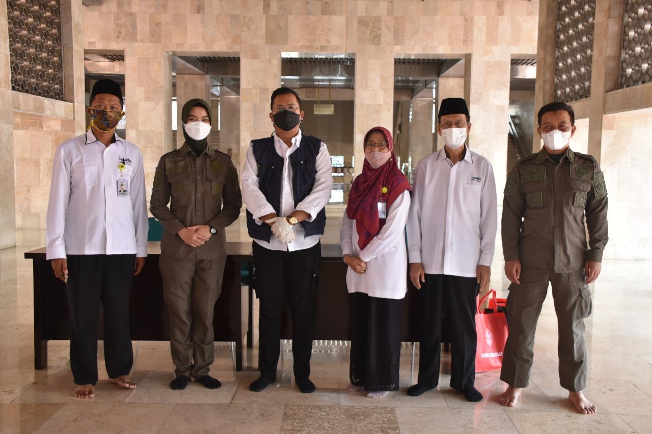 Velox Pejaten BIN Sosialisasi Pencegahan Covid-19 di Masjid Istiqlal