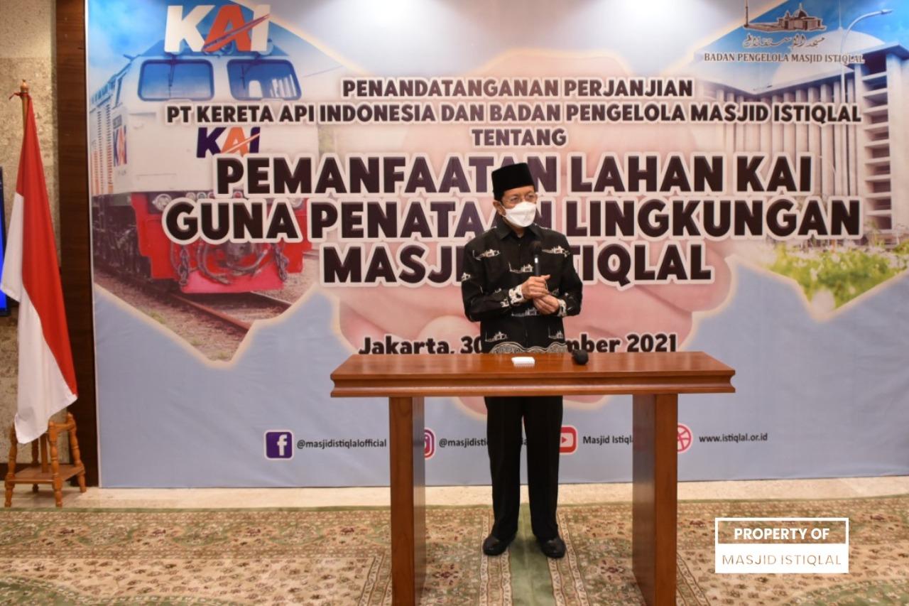 Sambutan Imam Besar Masjid Istiqlal, Prof. Dr. KH. Nasaruddin Umar, MA