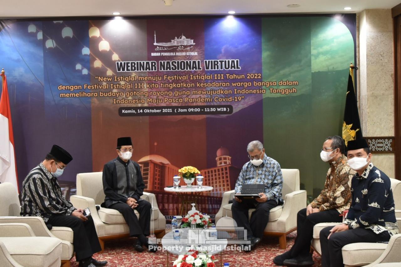 BPMI Selenggarakan Webinar Menuju Festival Istiqlal III Tahun 2022
